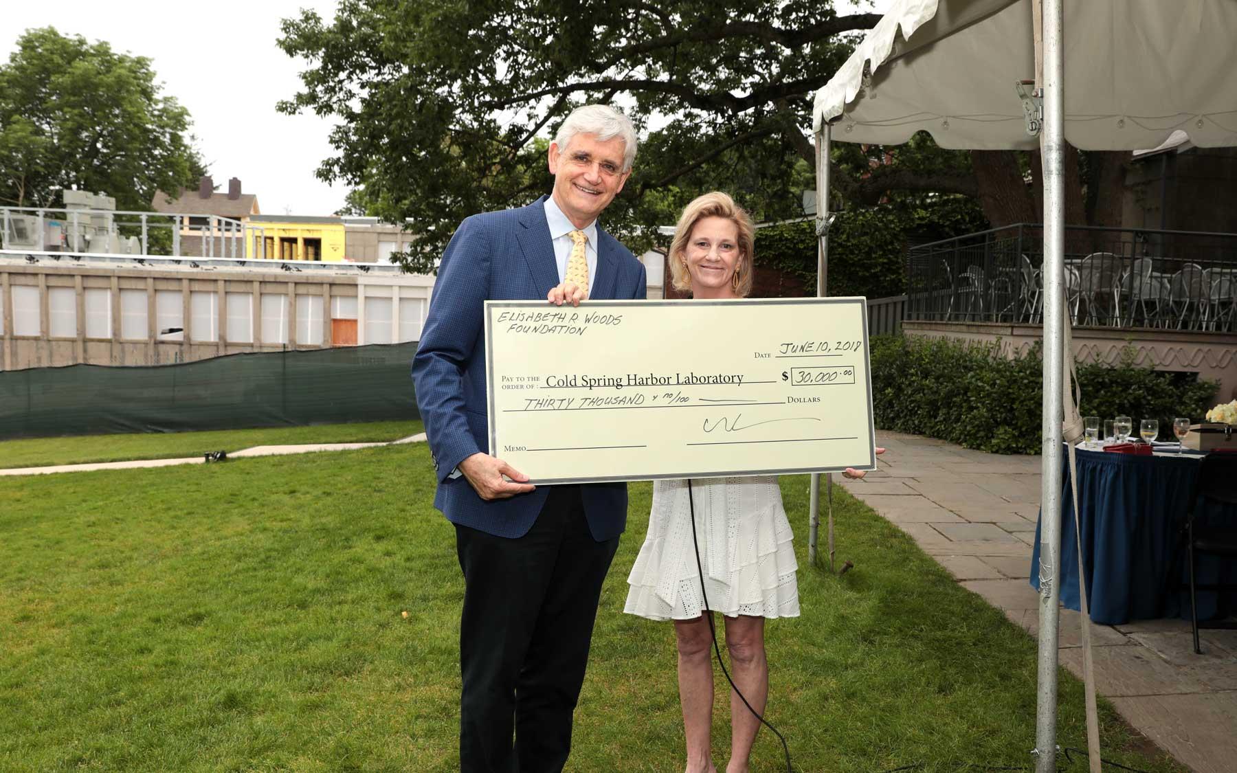 Bruce Stillman and Liz Leonard CSHL Donation