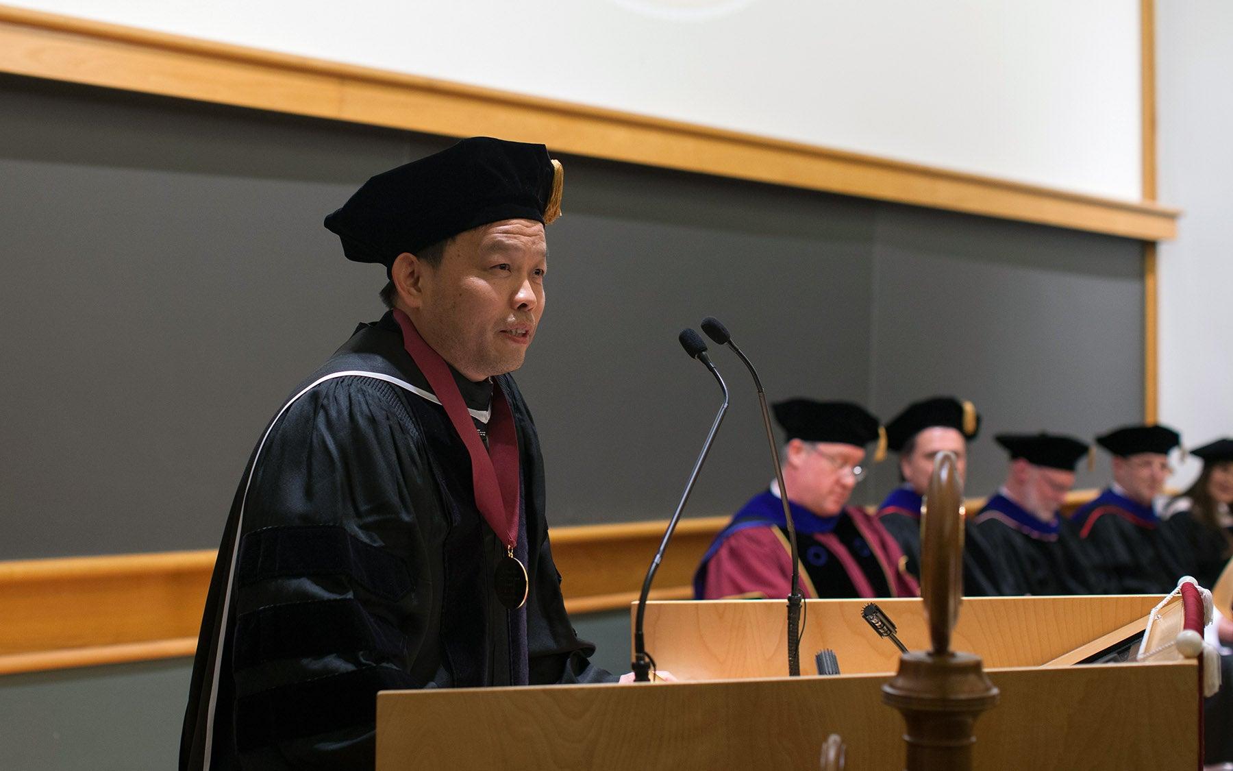 Bo Li WSBS Graduation Winship Herr Award