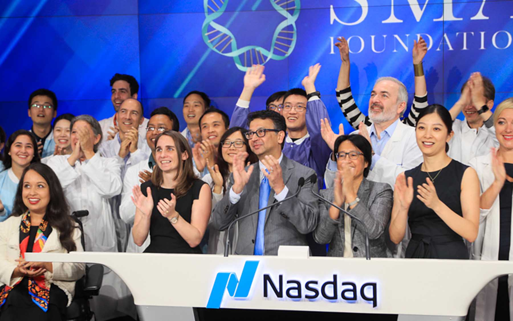 Adrian Krainer and lab at Nasdaq