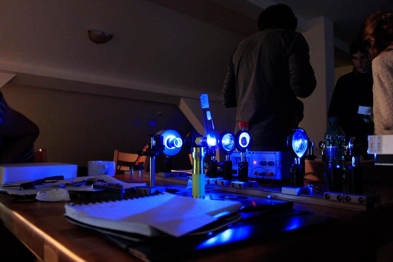 Bright field custom horizontal microscope