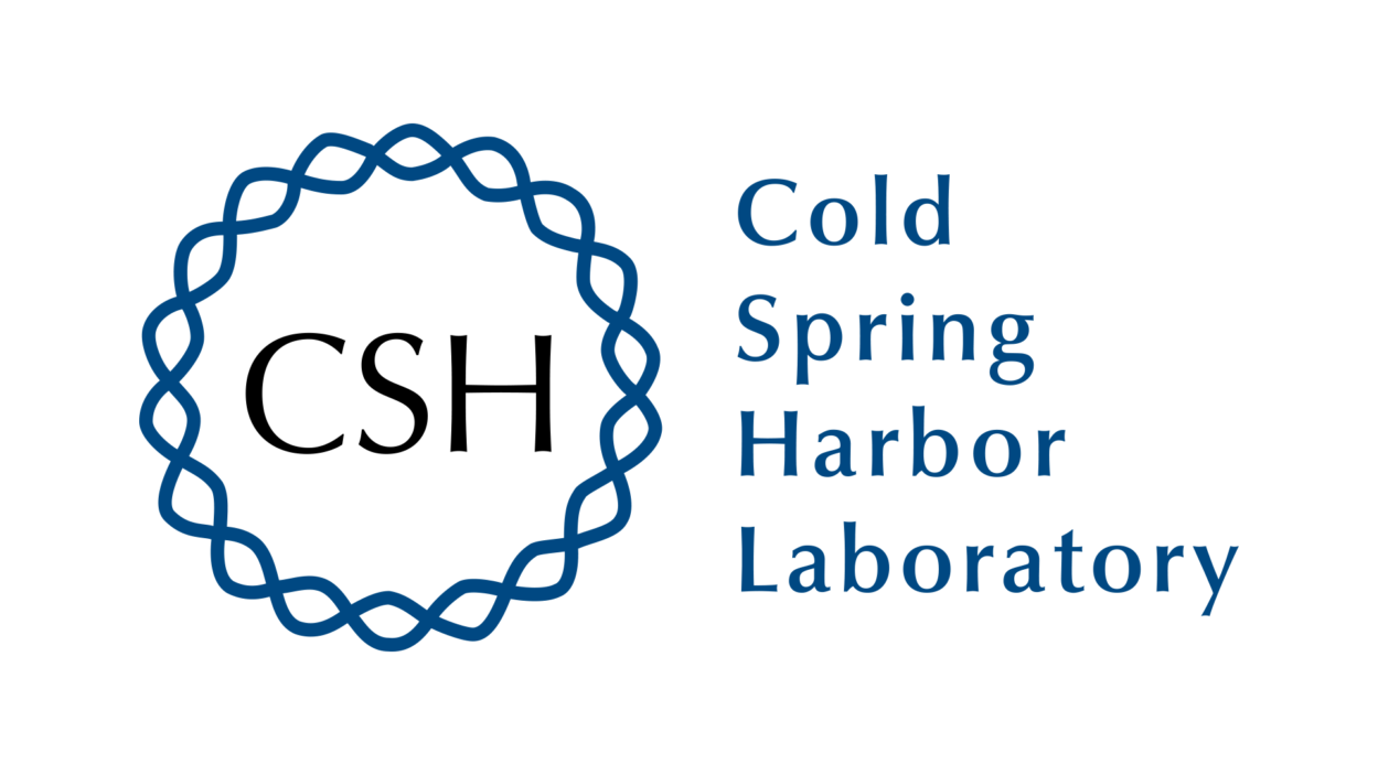 graphic of Cold Spring Harbor Laboratory logo blue text on white background