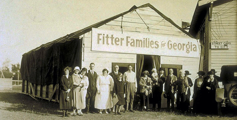 Fitter Families contestants at Georgia State Fair Savannah, 1924, eugenics archive
