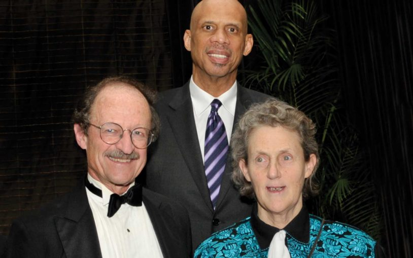 Honorees Harold E. Varmus, Kareem Abdul-Jabbar, and Temple Grandin at the 2011 Double Helix Medals Dinner