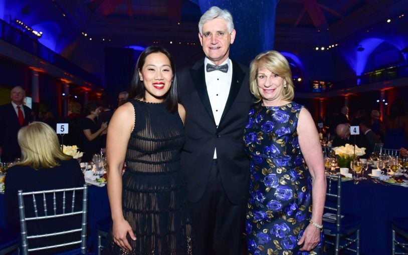 Dr. Priscilla Chan, Dr. Bruce Stillman, and Marilyn Simons