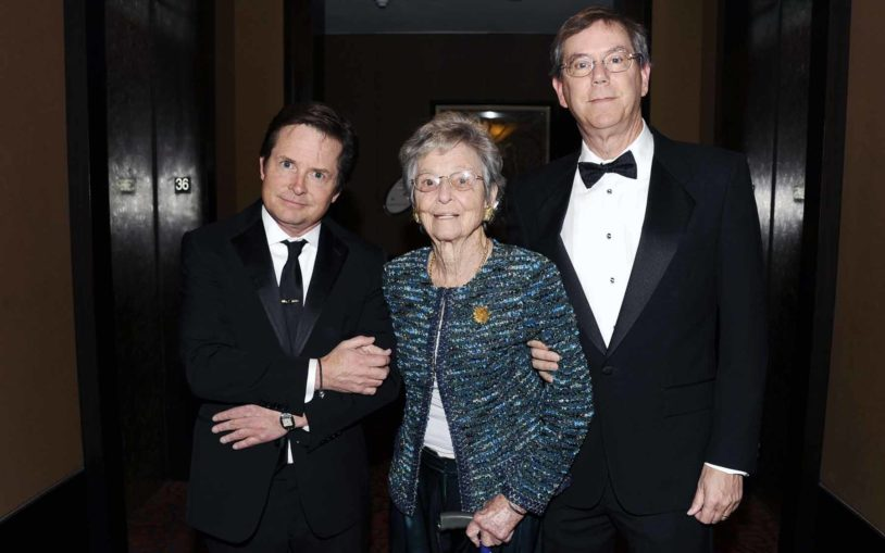 Honorees Michael J. Fox, Mary Lindsay, and Arthur Levinson at the 2012 Double Helix Medals Dinner