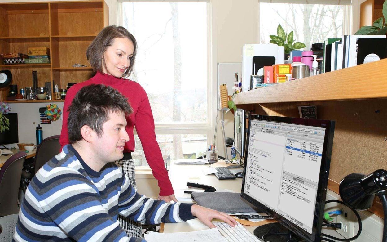 Computational Postdoc Mikhail Genkin and Tatiana Engel