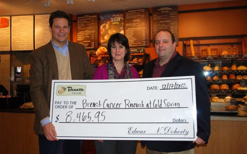 Panera Bread raises nearly $8,500 for breast cancer research at CSHL