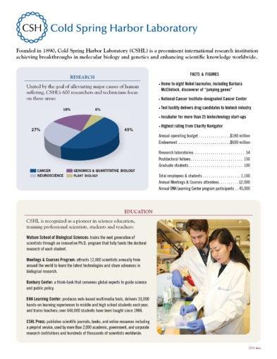 CSHL Fact sheet