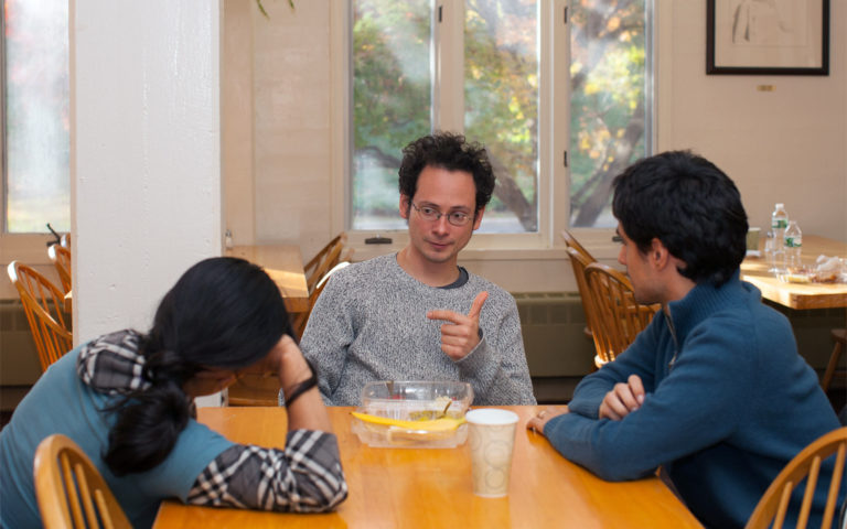 photo of CSHL faculty member Florin Albeanu with trainees