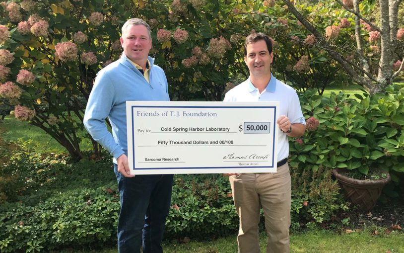 Friends of T.J. donate $50,000 for sarcoma research