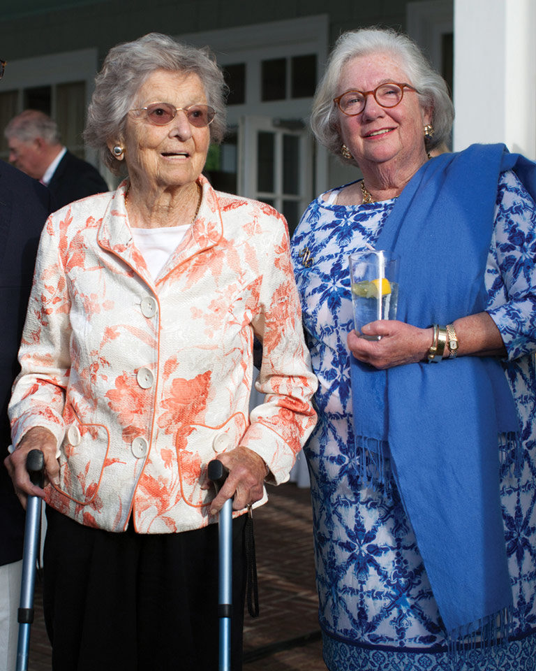 photo of Helix Society members Mary Lindsay and Trudy Calabrese