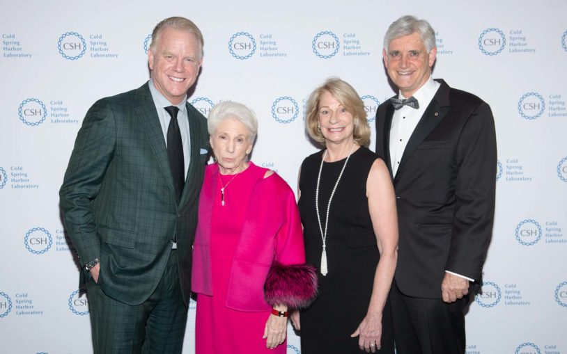 photo of Double Helix Medals Dinner 2019 - Bruce Stillman, Nancy Wexler, Marilyn Simons, Boomer Esiason