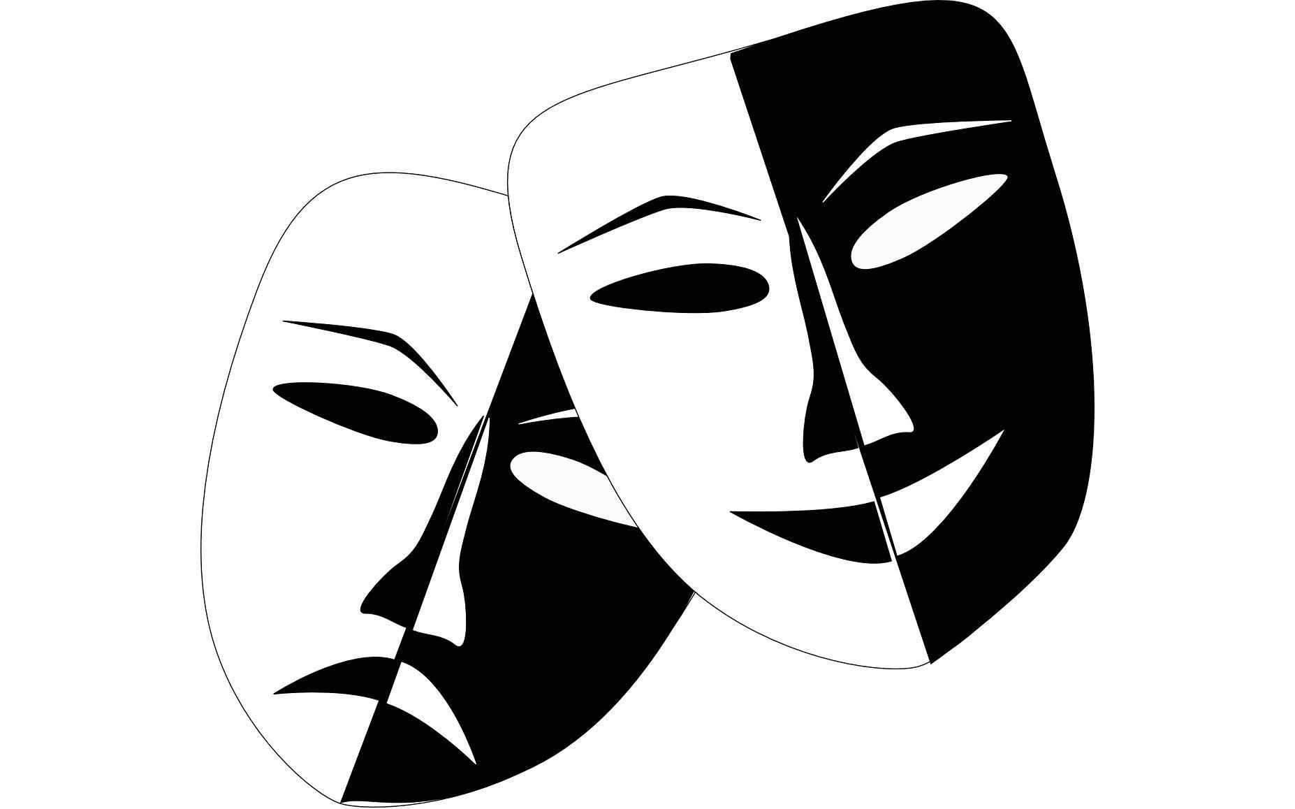 illustration of Drama faces