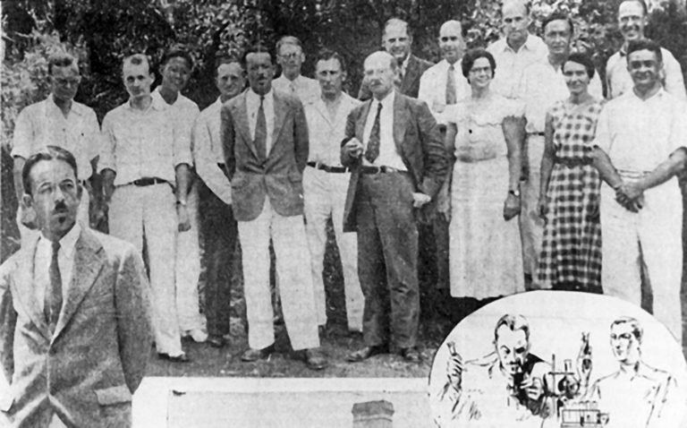 photo of the attendees at the first CSHL Symposium, 1933