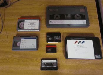 photo of obsolete analog video formats