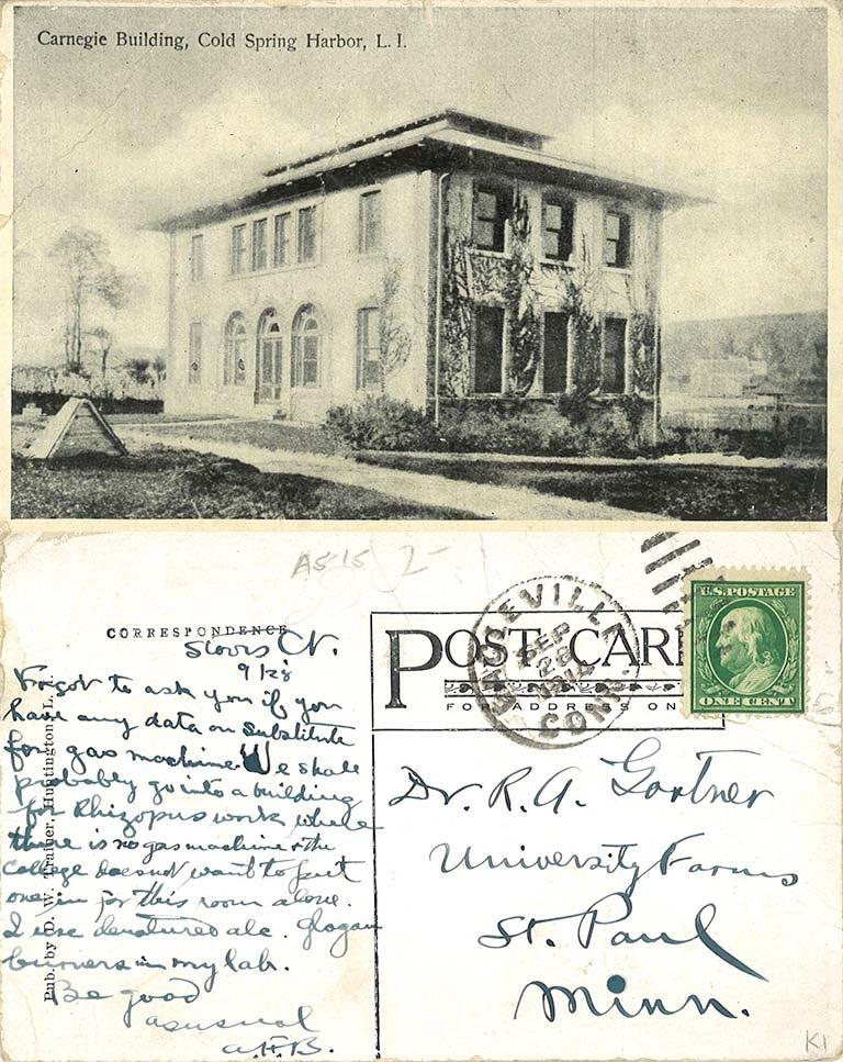 image of Albert Blakeslee postcard
