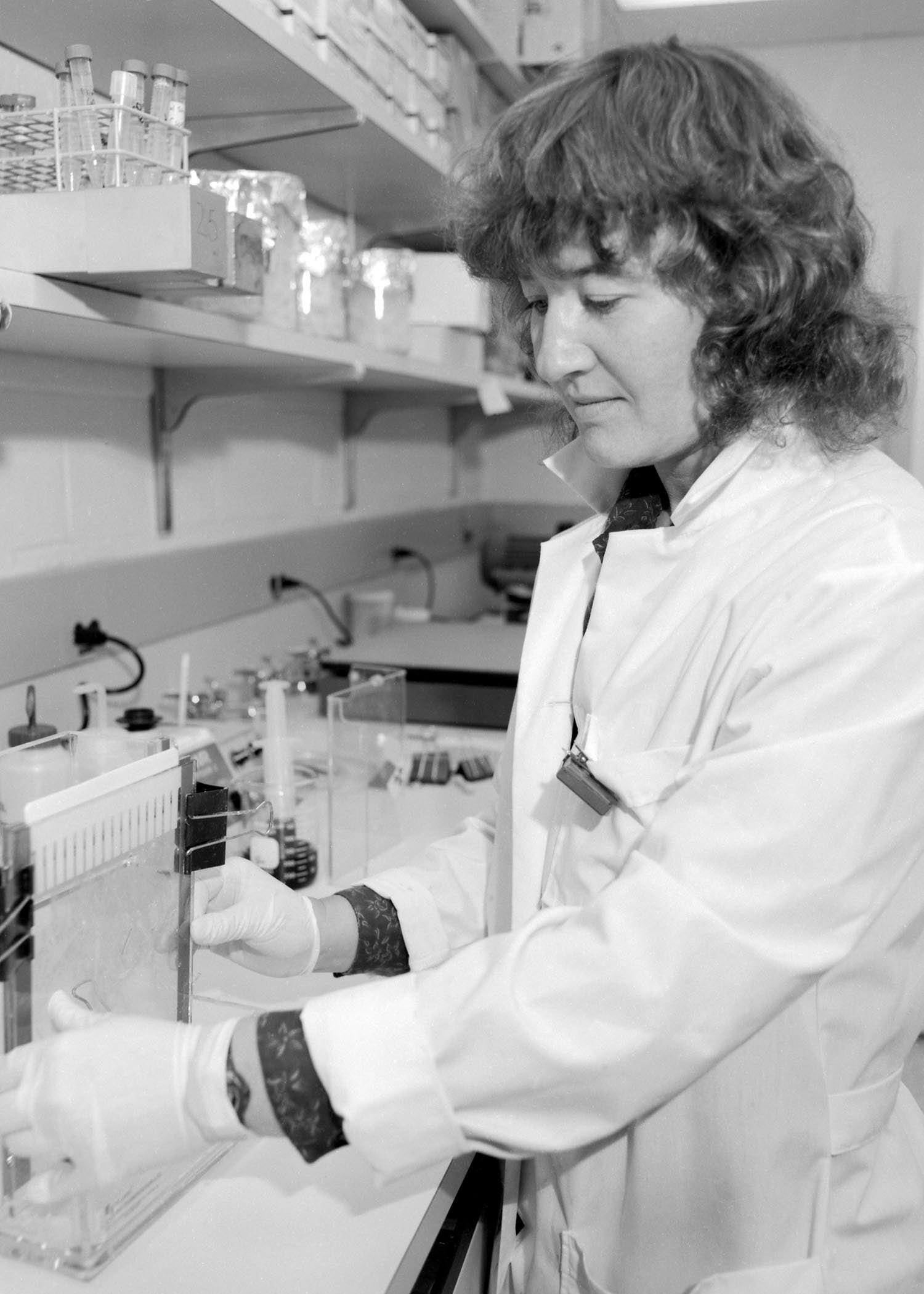 photo of Carol Greider 1991