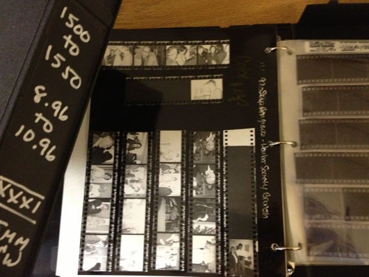 photo of Contact Sheet Storage