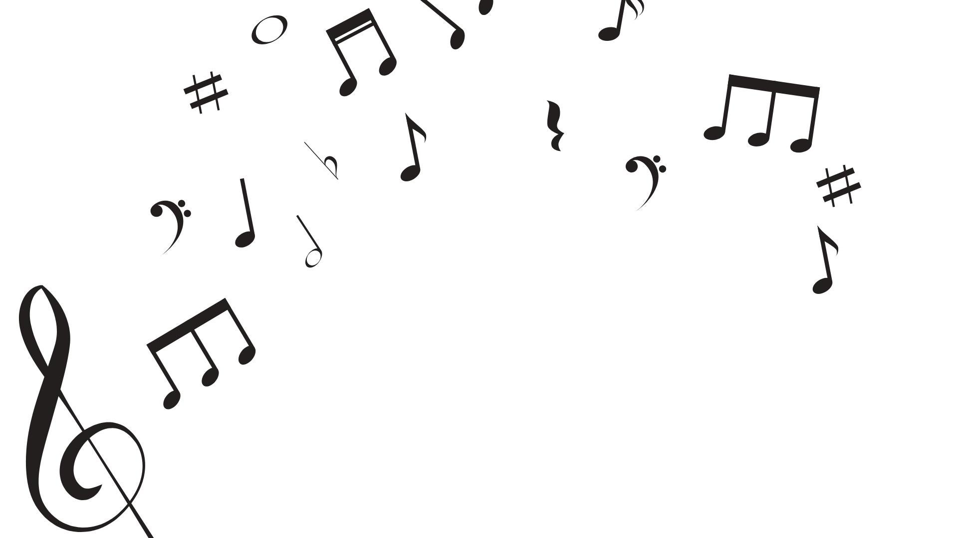 graphic of Musical notes and symbols to be used as placeholder until musician photo is available