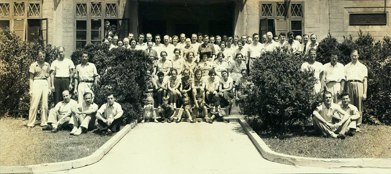photo of group of people from Symposium from 1937