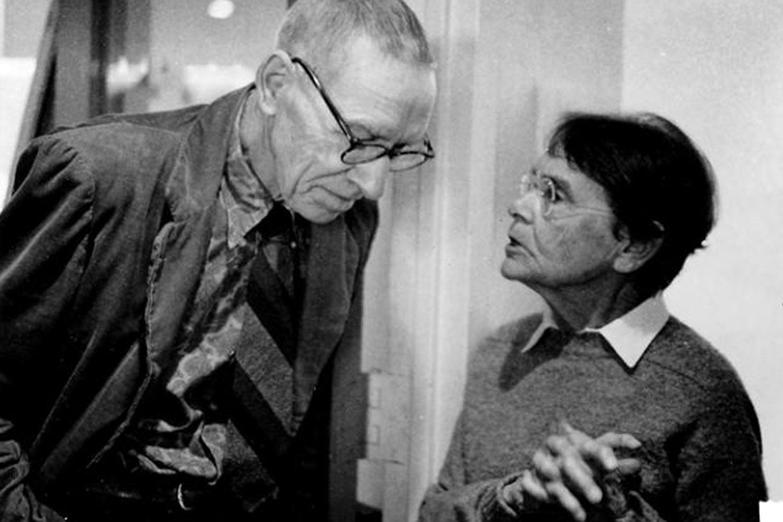 photo of Al Hershey and Barbara McClintock 1983