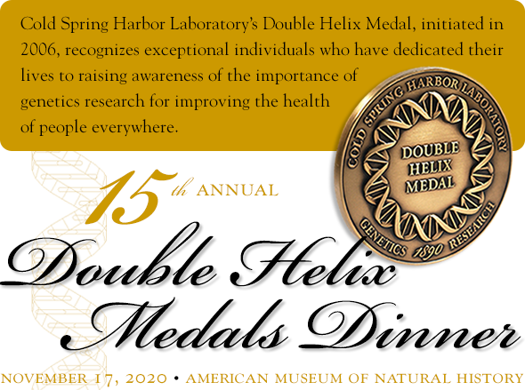 logo graphic for 15th annual Double Helix Medals Dinner