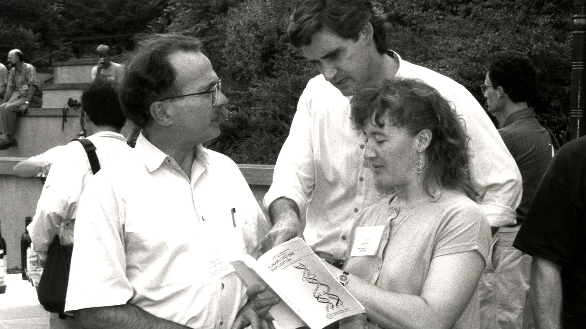 photo of David Clayton, Bruce Stillman, and Carol Greider