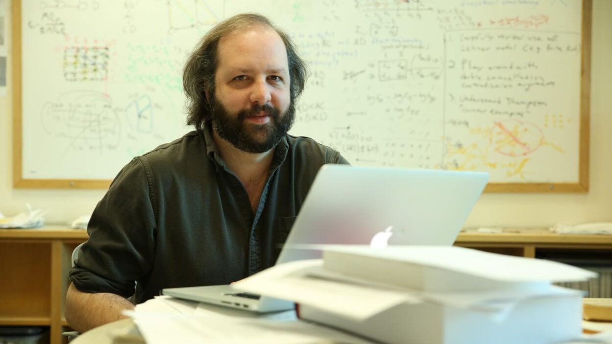 photo of David McCandlish in his office