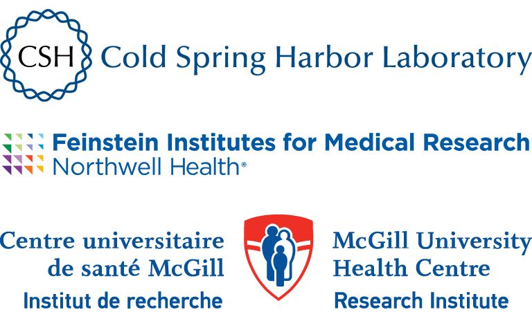 image of Cold Spring Harbor Laboratory, Feinstein Institutes for Medical Research Northwell Health, and McGill University Health Centre Research Institute logos