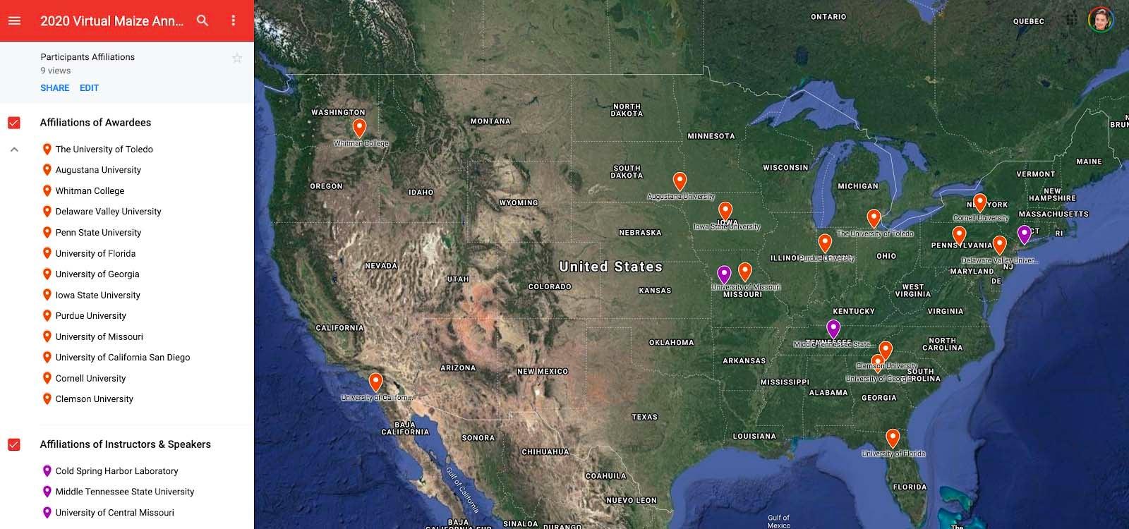 image of Jamboree institutions map
