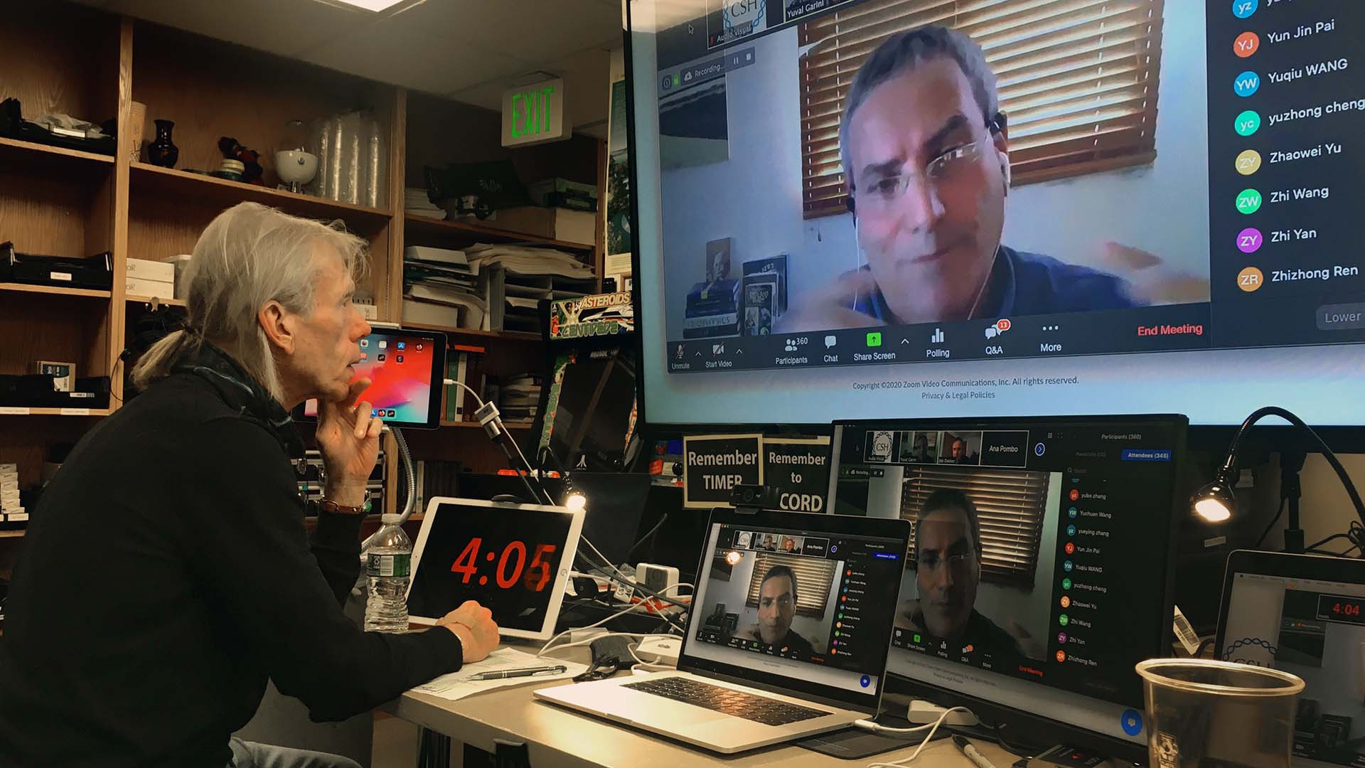photo of control room for virtual Meetings & Courses
