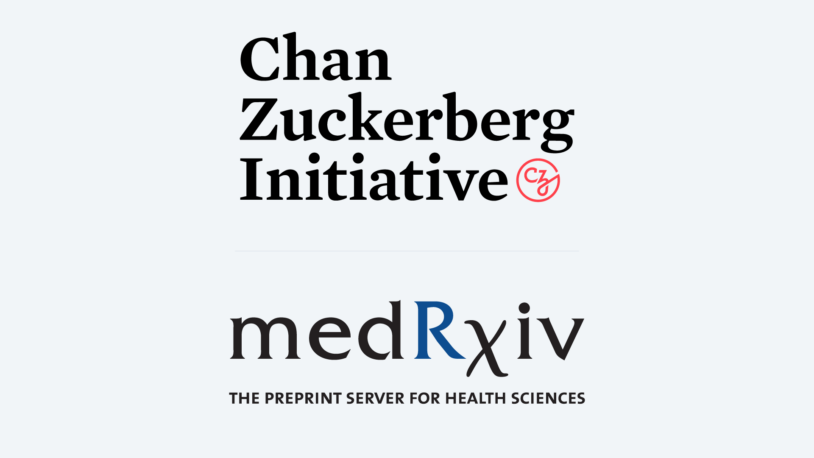 graphic of Chan Zuckerberg Initiative and medRxiv logos