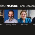 Panelist photos of Jennifer Doudna, Zachary Lippman, Alta Charo, and Elliot Kirschner in a hero image