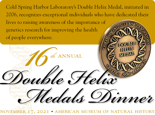 image of the 16th annual Double Helix Medals Dinner logo