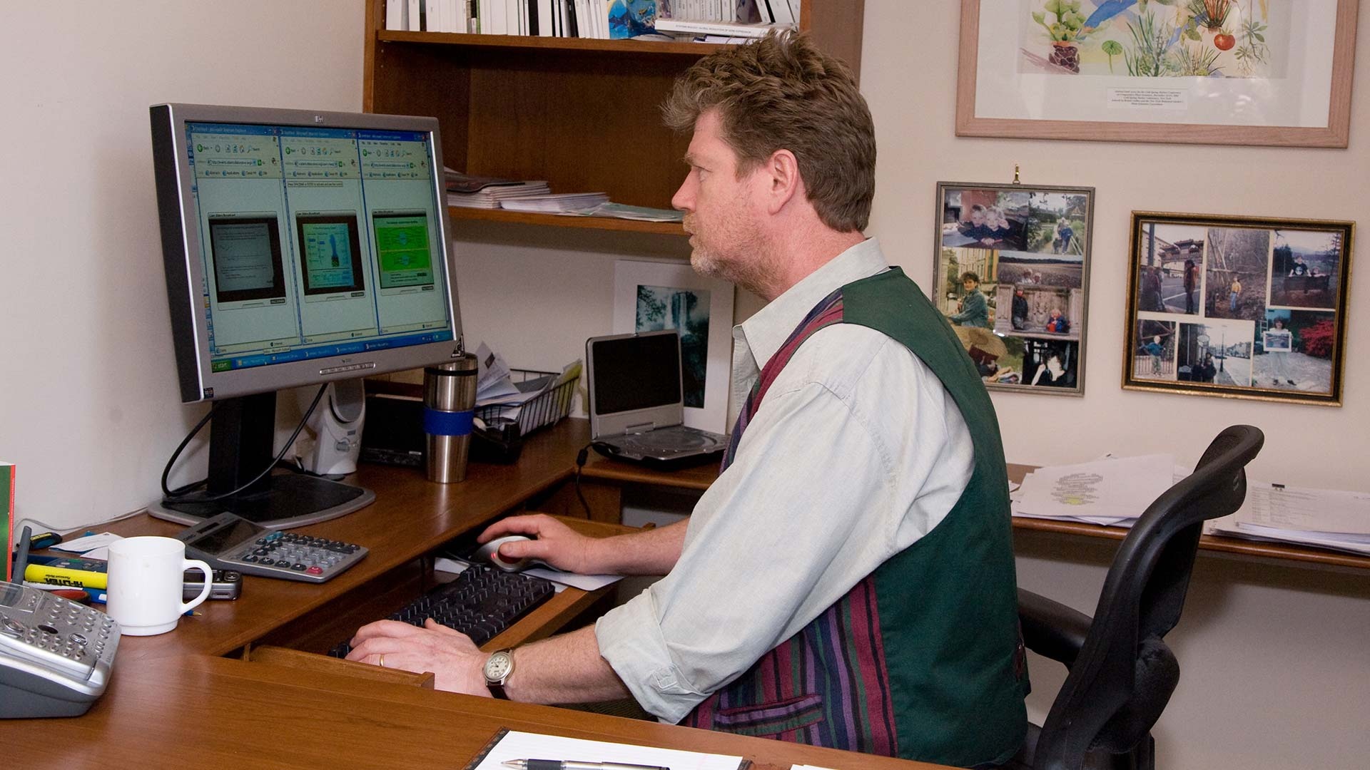 photo of David Stewart in his office