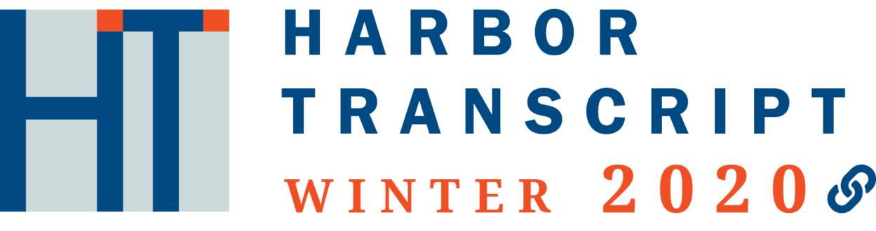 image of the Winter 2020 Harbor Transcript logo