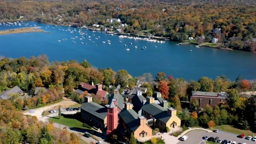 aerial photo of the upper campus at Cold Spring Harbor Laboratory
