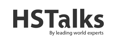 graphic of HS talks logo