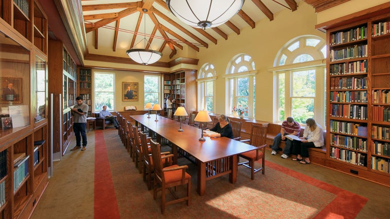 photo of the CSHL Library meeting room