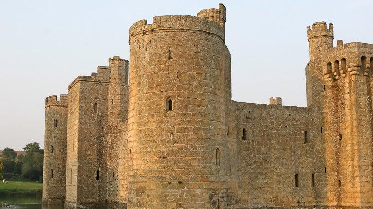photo of a castle turret