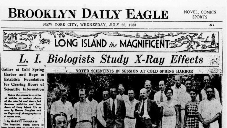 photo of the Brooklyn Daily Eagle newspaper