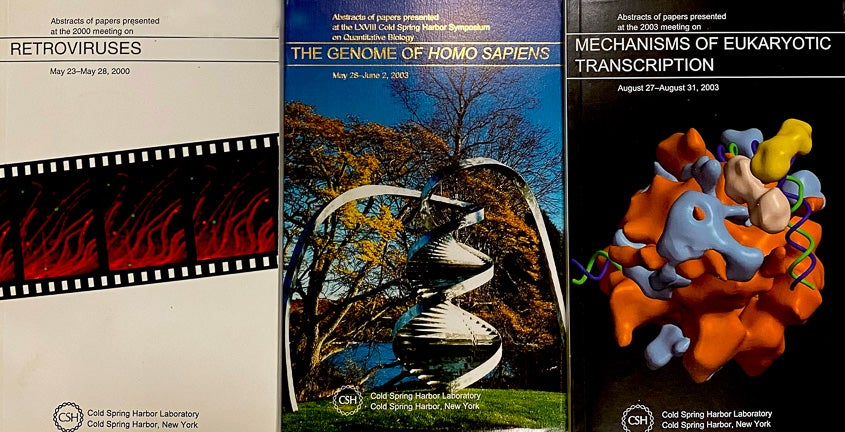 photo of abstract covers from CSHL meetings