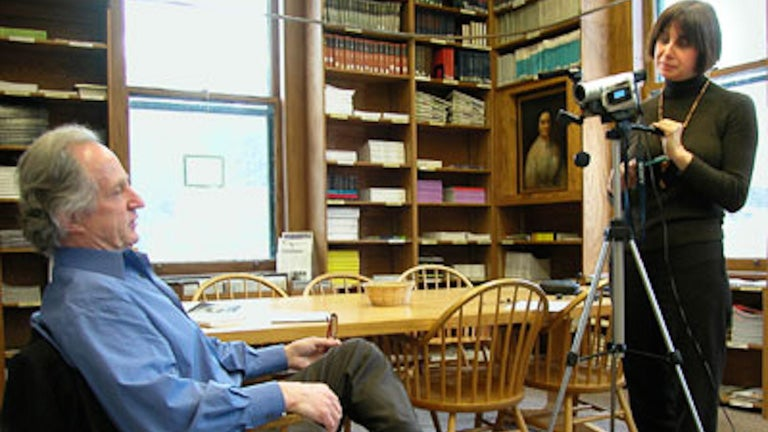 photo of an oral history video interview