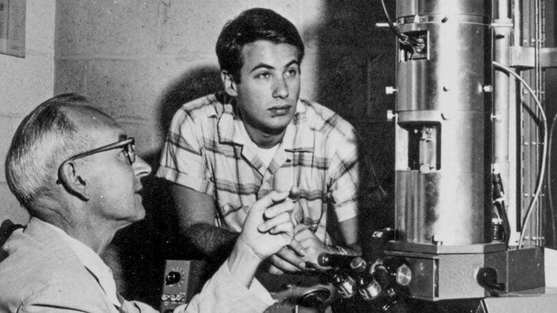 photo of Berwind Kaufman and David Baltimore