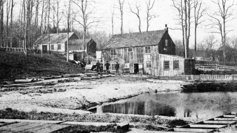 historic photo of Cold Spring Harbor fish hatchery
