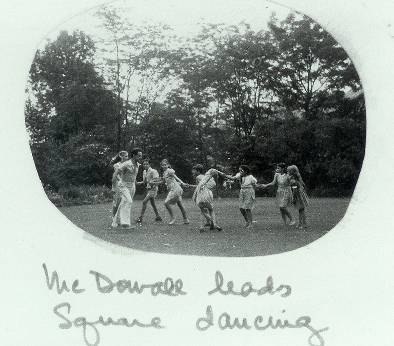 photo of people square dancing