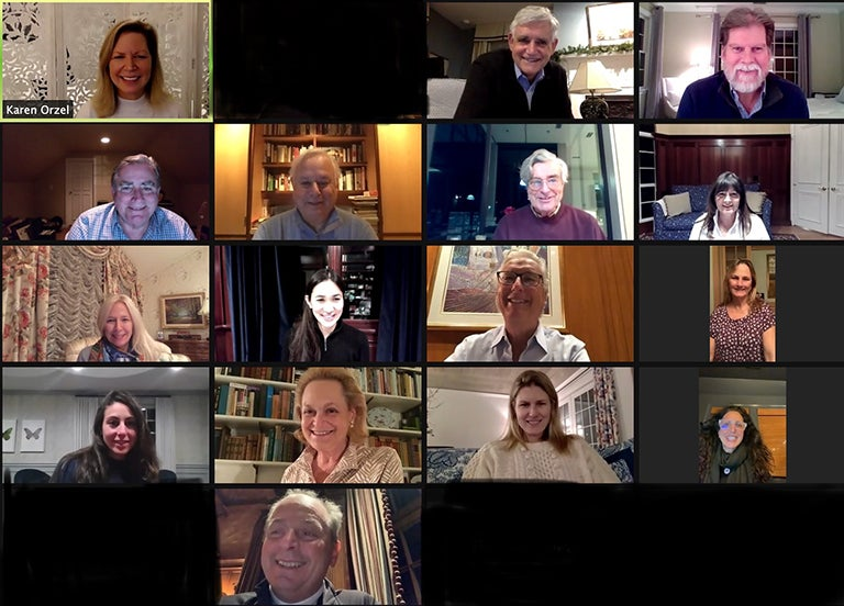 photo of the 2021 CSHL Association Directors from a Zoom call