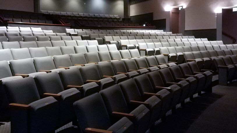 photo of the inside of Grace Auditorium