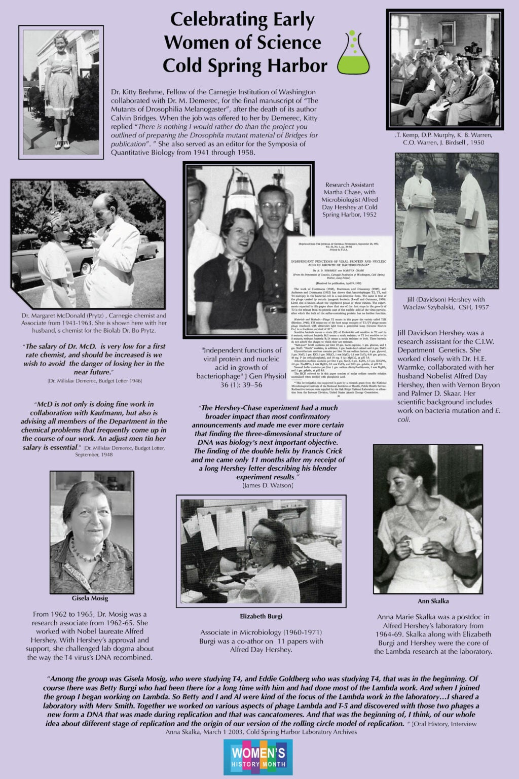 Early Women of CSHL Poster (page 1)