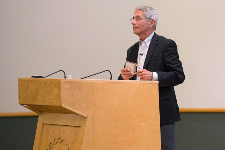 photo of Dr. Fauci at CSHL